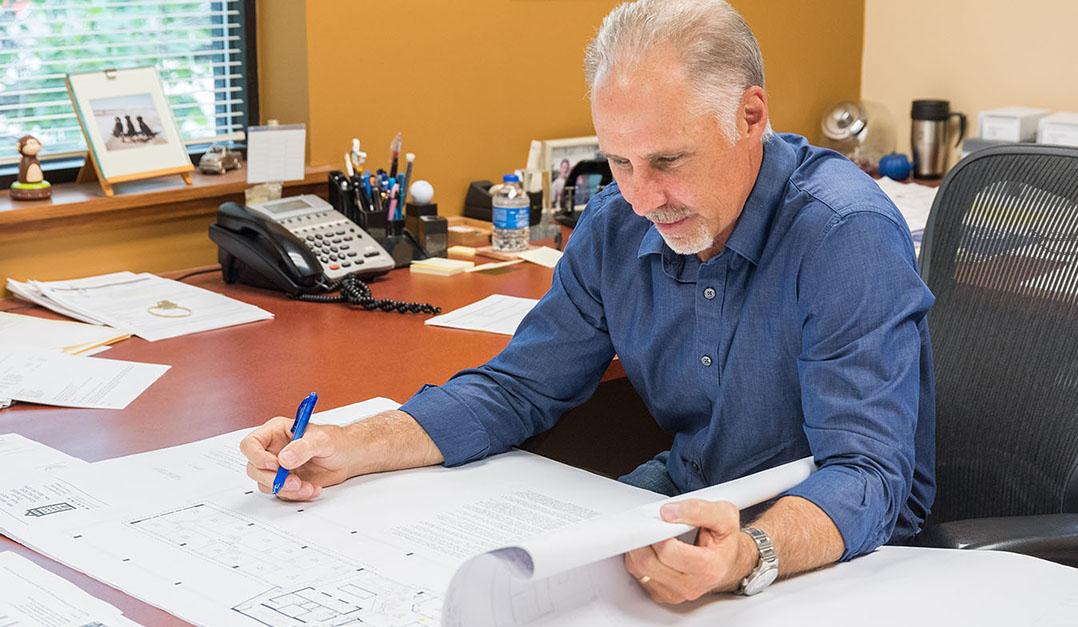 Bill Brauer at Desk